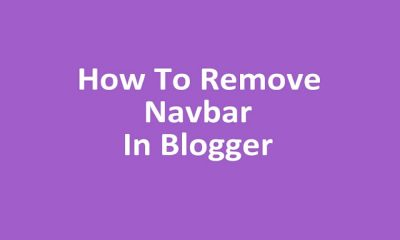 How To Remove Or Hide Navbar In Blogger