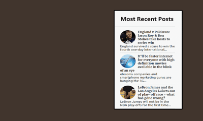 How To Show Most Recent Posts Widget With Thumbnails On Blogger
