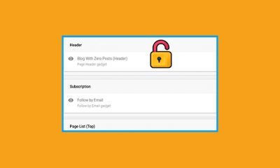 How To Unlock/Move Or Remove Gadgets On Blogger Layout