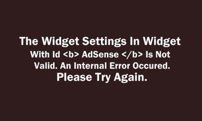 The Widget Settings In Widget With Id AdSense Is Not Valid