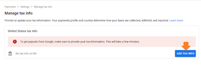 How To Fill Manage Tax Info In Google AdSense   Withholding Tax, W-8BEN Form, US Tax Treaty 2