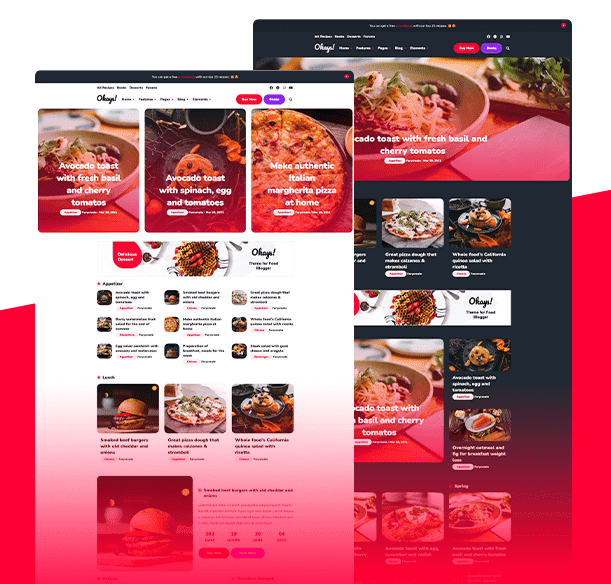 Best Blogger Templates [2021] For Food & Recipe Blogs | Okays
