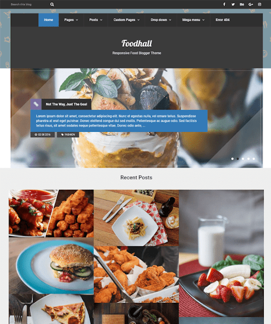 Best Blogger Templates For Food & Recipe Blogs | Foodhall