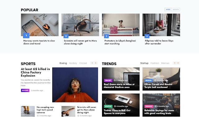 Story Mag - Blogger Premium News & Magazine Template 3
