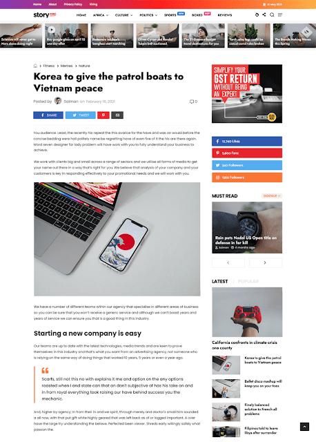 Story Mag - Blogger Premium News & Magazine Template Itempage 121