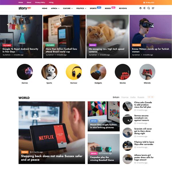 Story Mag - Blogger Premium News & Magazine Template 9