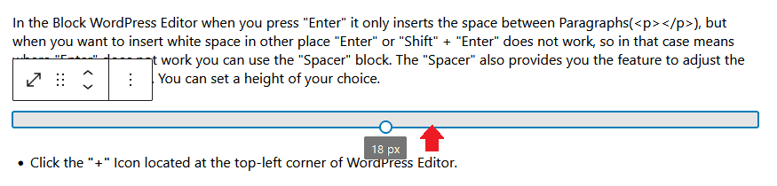 Insert Line break in WordPress Block Editor 4