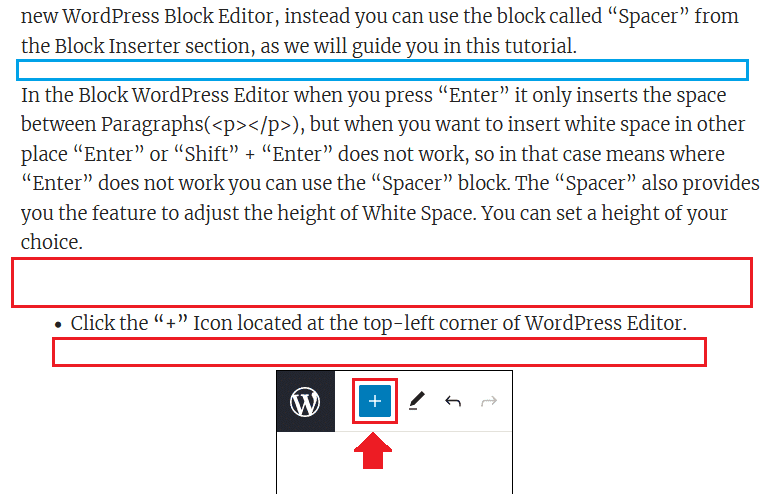 Insert Line break in WordPress Block Editor 6