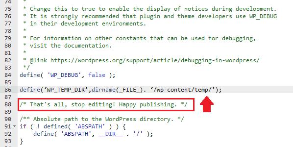 Remove Missing A Temporary Folder Error In WordPress 8