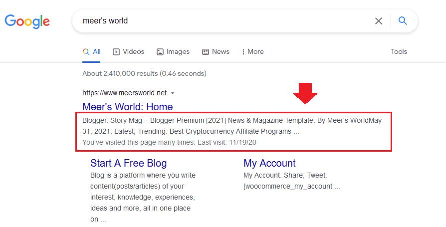 Yoast: How To Show Tagline Meta Description In Google 1