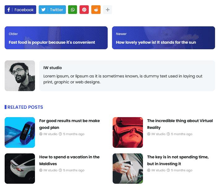 Deepr: Premium News & Magazine Blogger Template 15