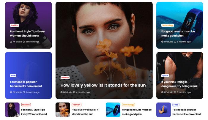 Deepr: Premium News & Magazine Blogger Template 6
