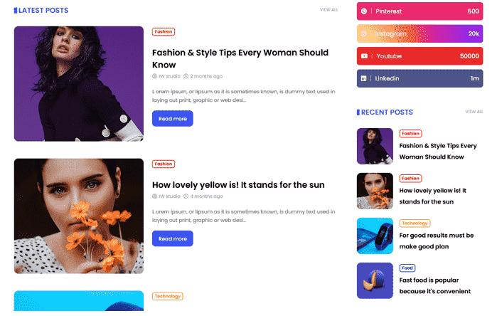 Deepr: Premium News & Magazine Blogger Template 9