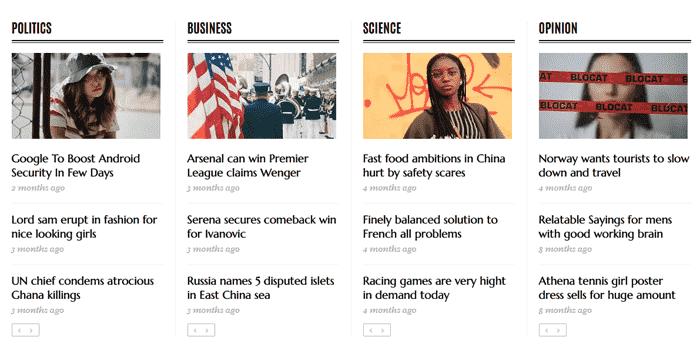 Newspaper, Classic News & Magazine Blogger Template 8