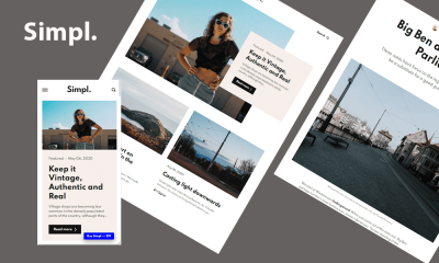 Simpl, A Multipurpose Personal Blogger Template, featured image